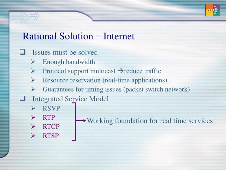 Rational solution internet