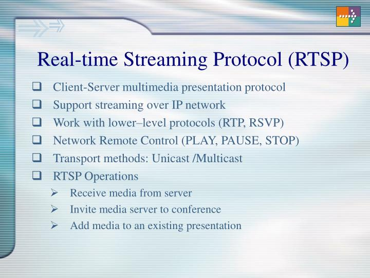Real-time Streaming Protocol (RTSP)