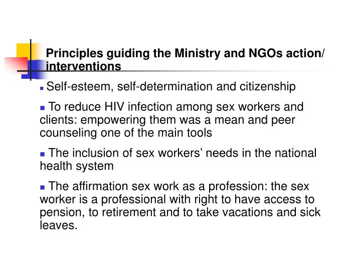 Principles guiding the Ministry and NGOs