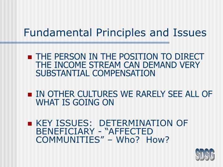 Fundamental Principles and Issues