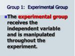 group 1 experimental group