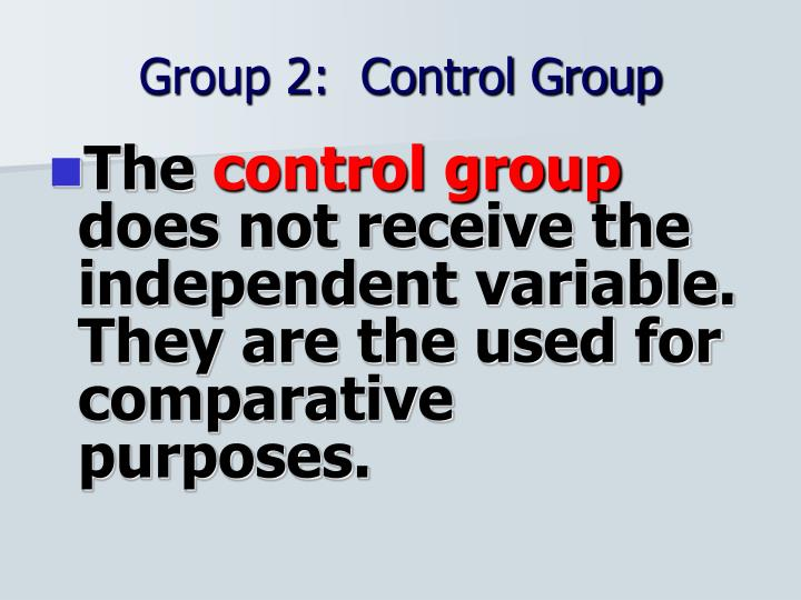 Group 2:  Control Group