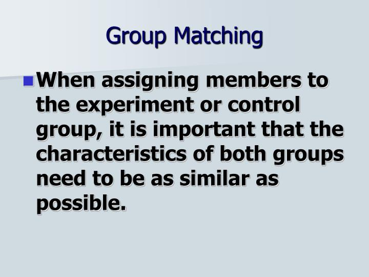 Group Matching