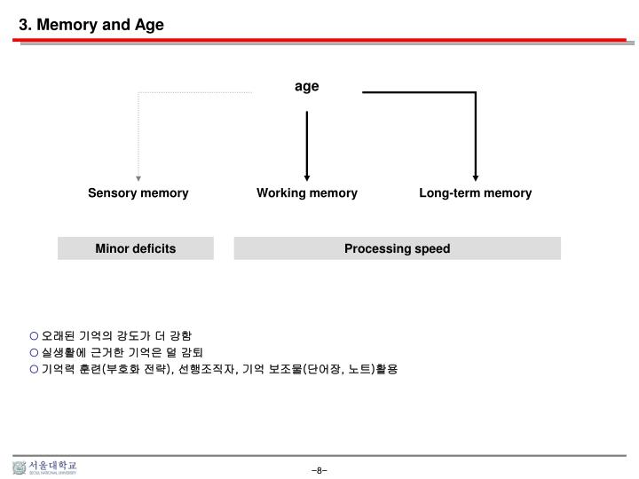 3. Memory and Age