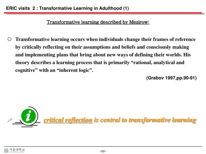 ERIC visits  2 : Transformative Learning in Adulthood (1)