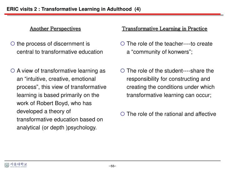 ERIC visits 2 : Transformative Learning in Adulthood  (4)
