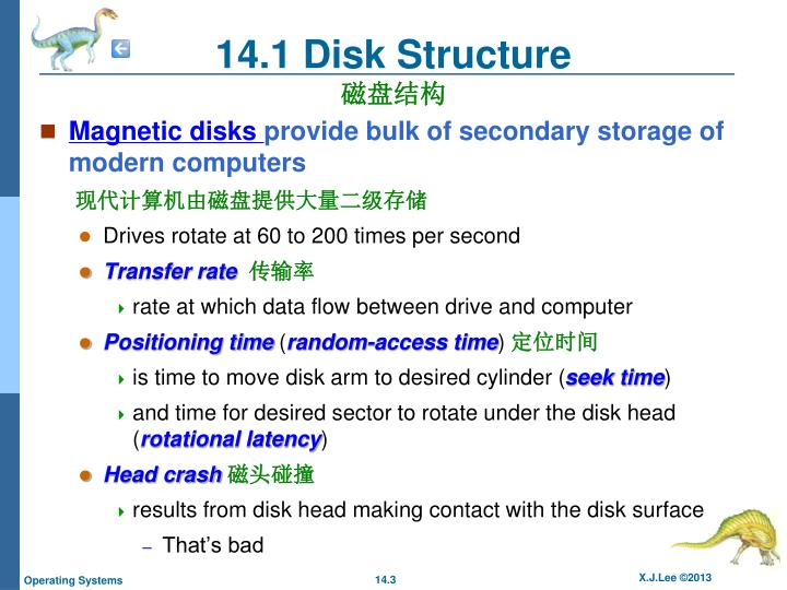 14.1 Disk Structure