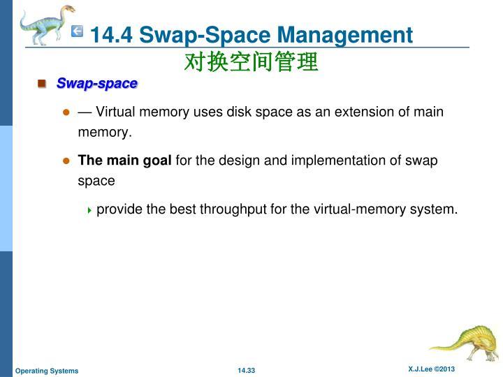 14.4 Swap-Space Management