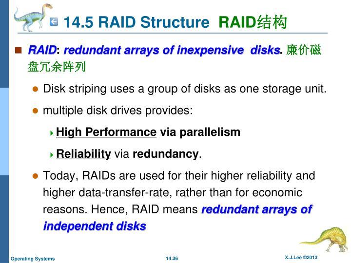 14.5 RAID Structure