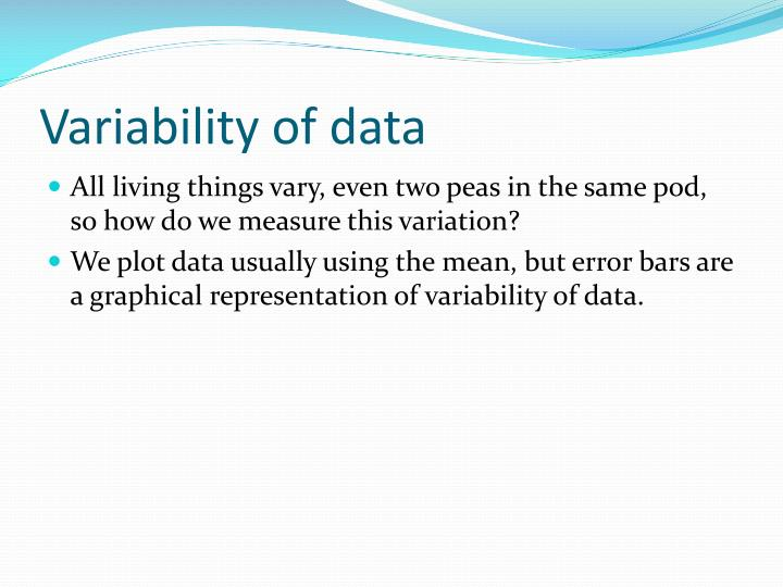 Variability of data