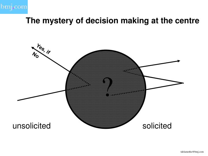 The mystery of decision making at the centre