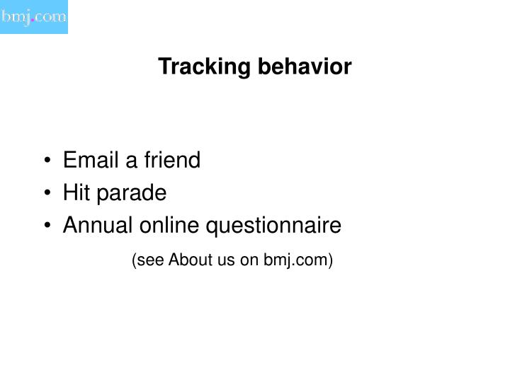 Tracking behavior