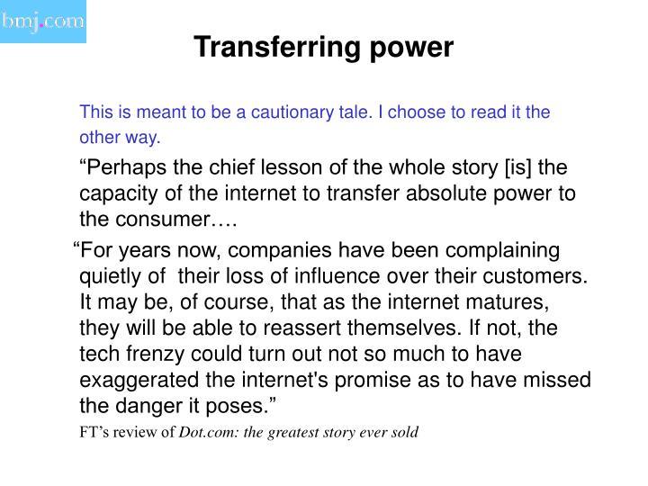 Transferring power