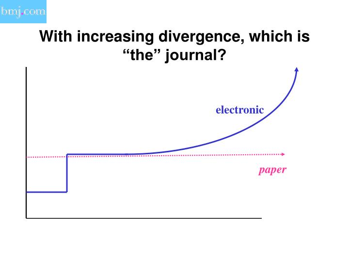 "With increasing divergence, which is ""the"" journal?"