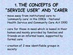 1 the concepts of service user and carer
