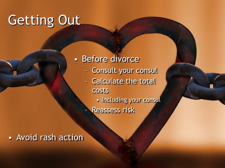 Avoid rash action