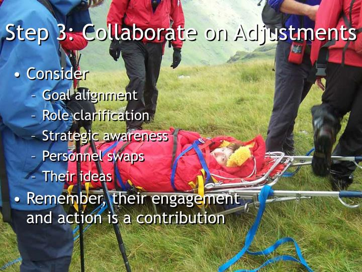 Step 3: Collaborate on Adjustments