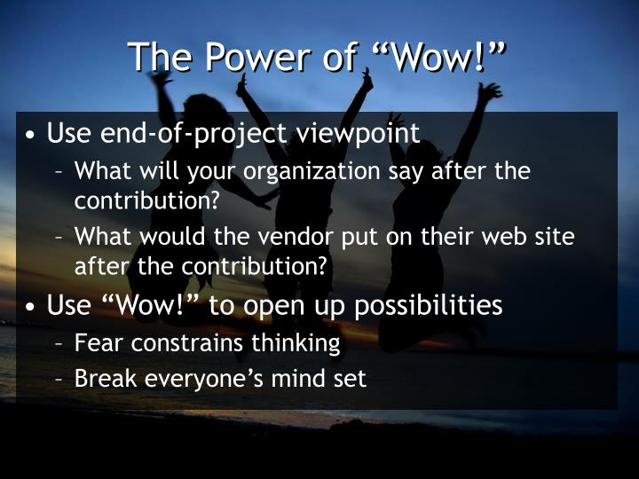 "The Power of ""Wow!"""