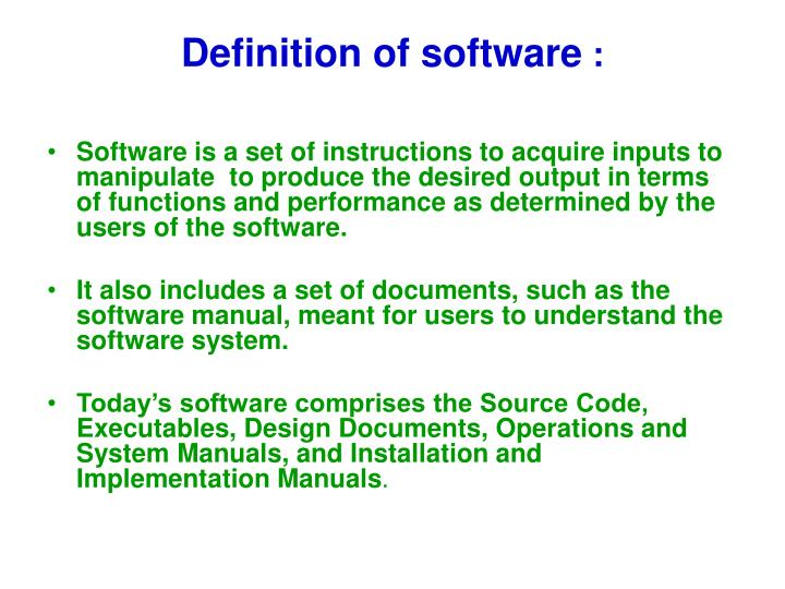 Definition of software