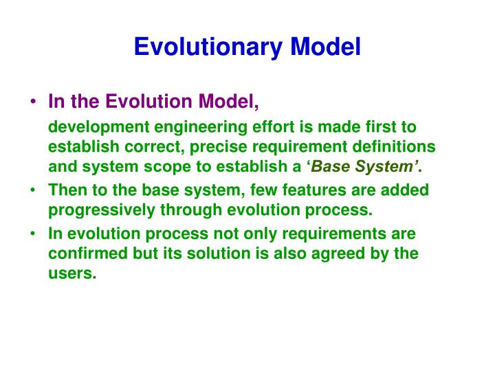 Evolutionary Model