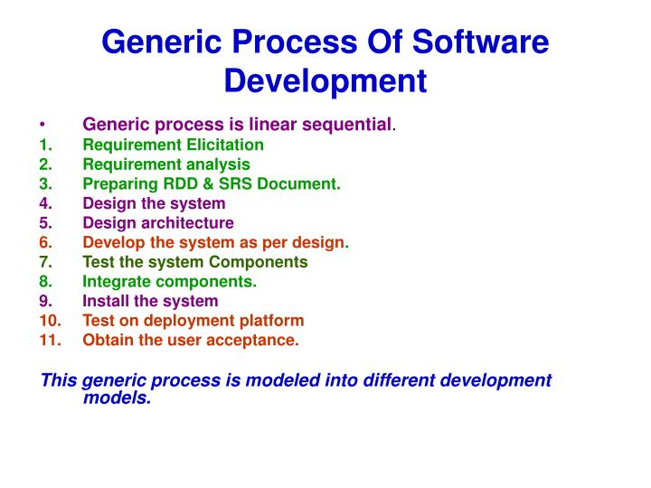Generic Process Of Software Development