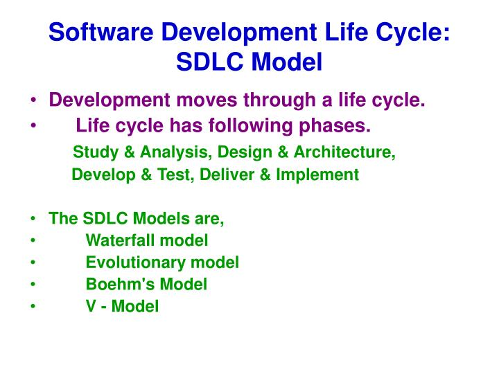Software Development Life Cycle: