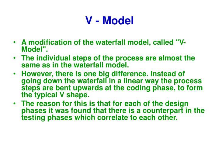 V - Model