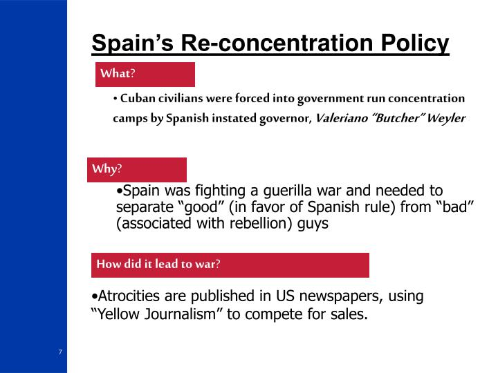 Spain's Re-concentration Policy