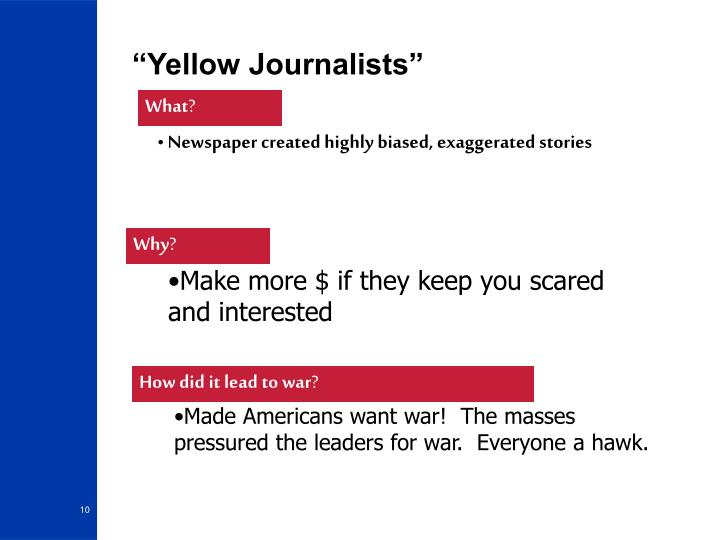 """Yellow Journalists"""