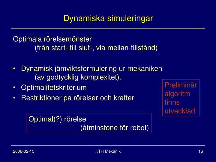 Dynamiska simuleringar