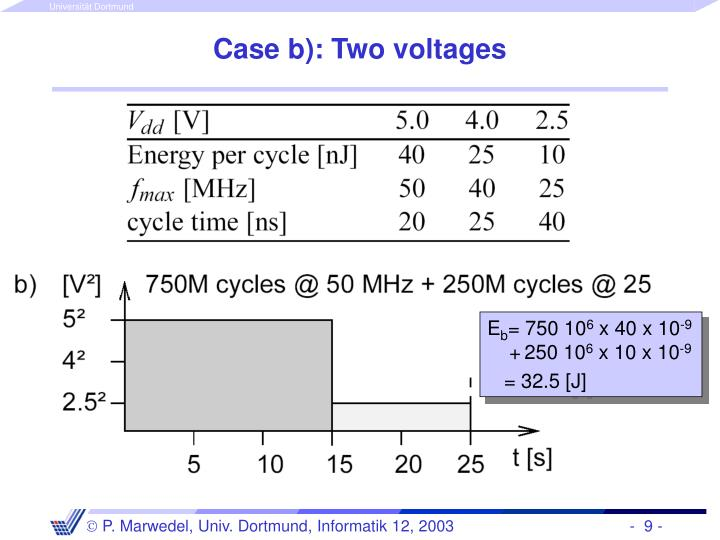 Case b): Two voltages