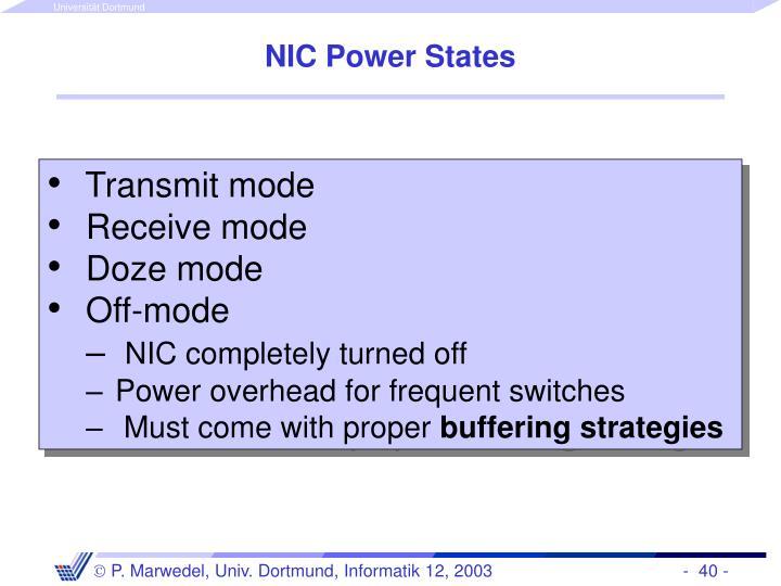 NIC Power States
