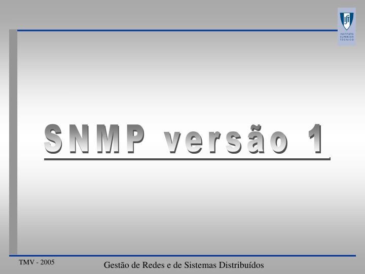 SNMP versão 1