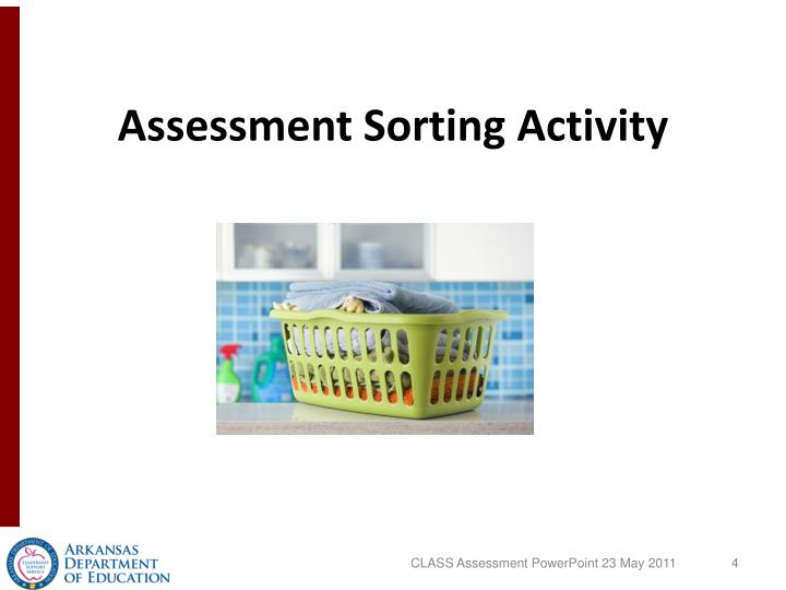 Assessment Sorting Activity