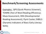 benchmark screening assessments1