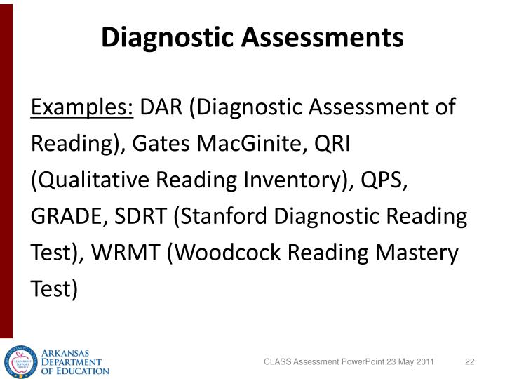 Diagnostic Assessments