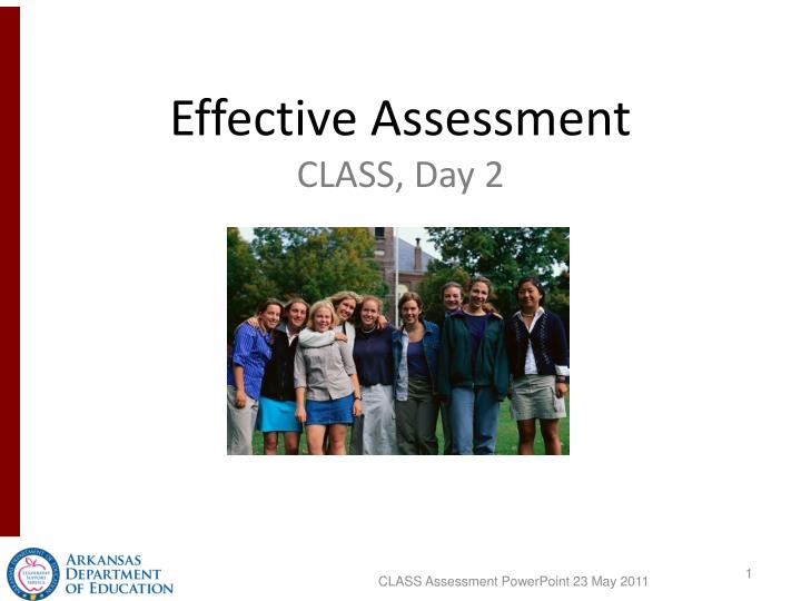 Effective Assessment