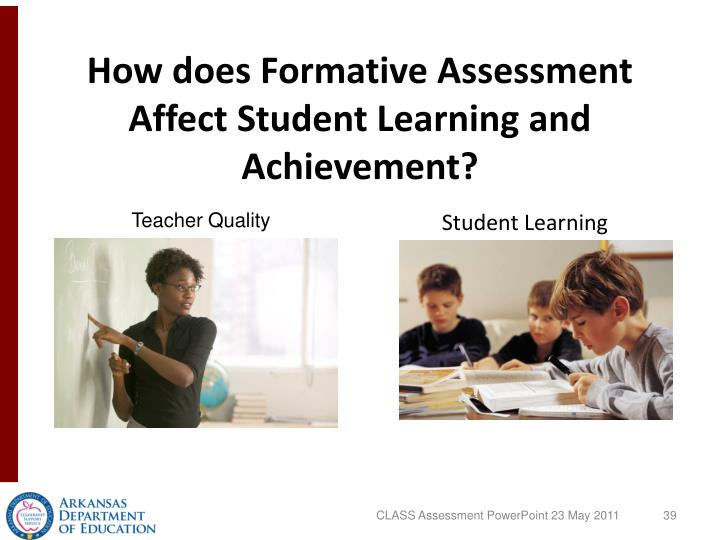How does Formative Assessment Affect Student Learning and Achievement?