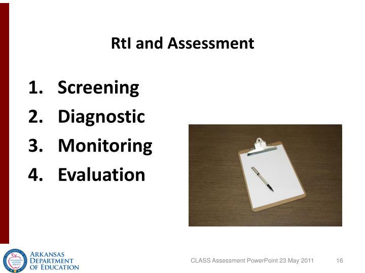 RtI and Assessment