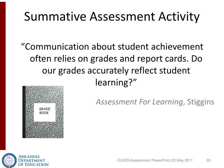Summative Assessment Activity