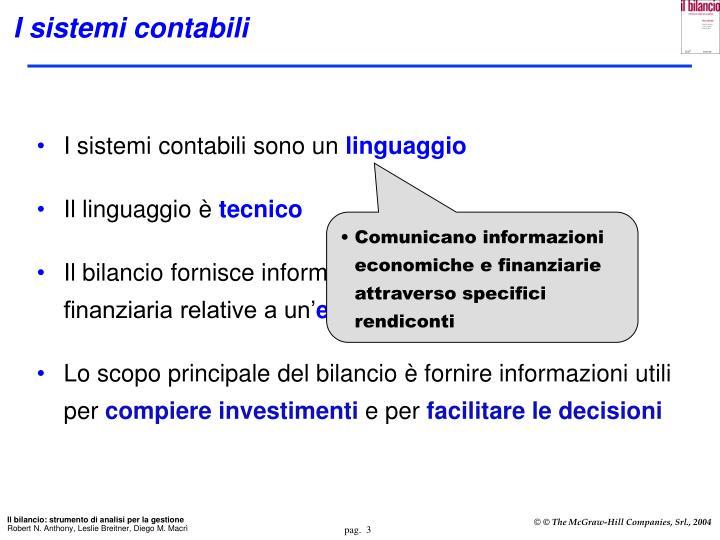 I sistemi contabili