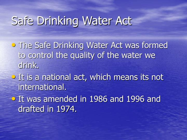 Safe drinking water act1