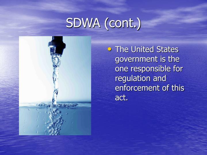 SDWA (cont.)