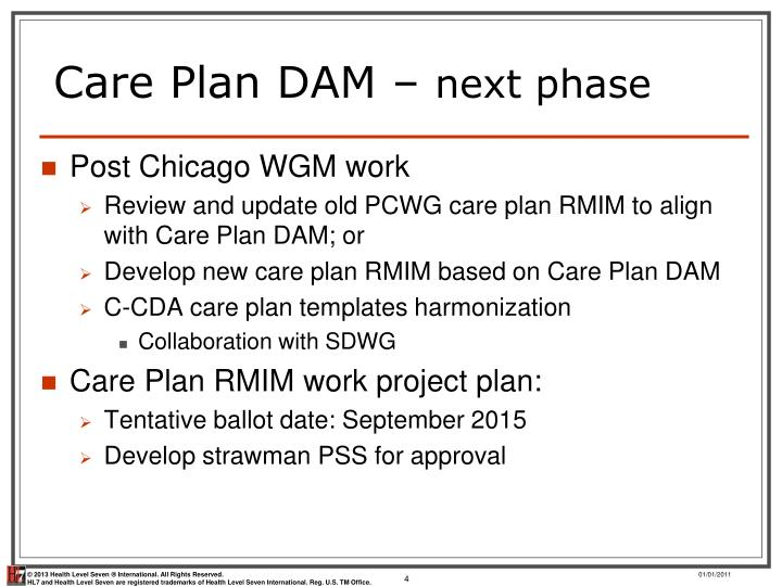 Care Plan DAM –