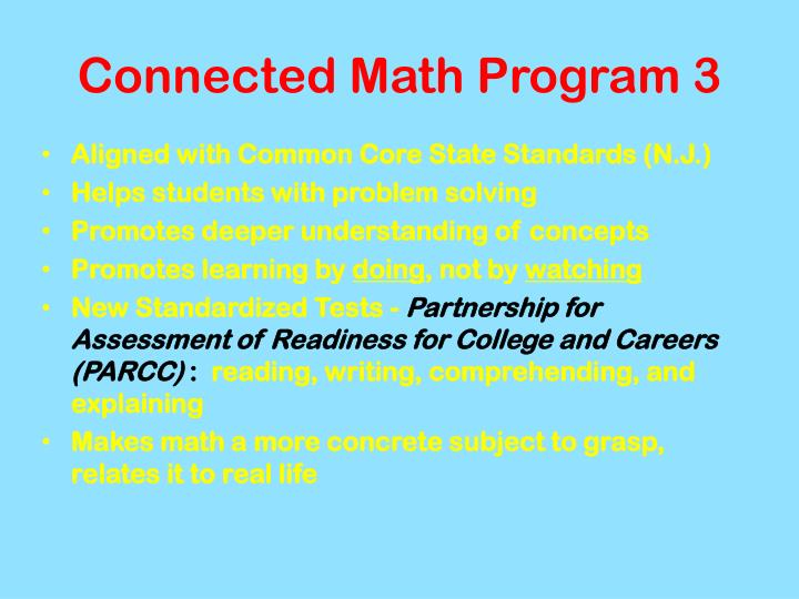 Connected Math Program 3