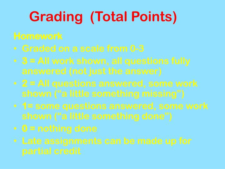 Grading  (Total Points)