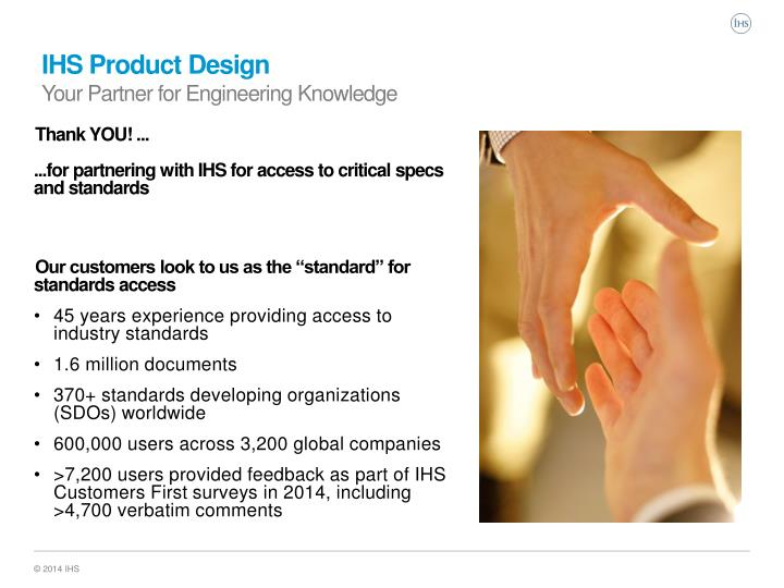 Ihs product design your partner for engineering knowledge