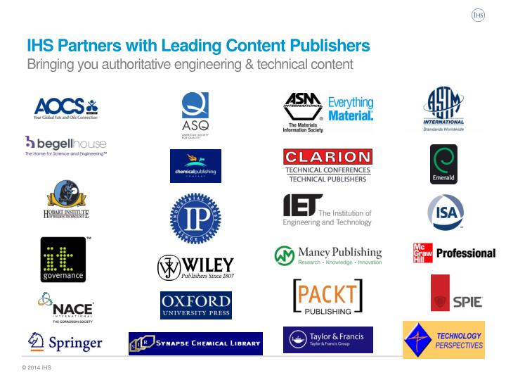 IHS Partners with Leading Content Publishers