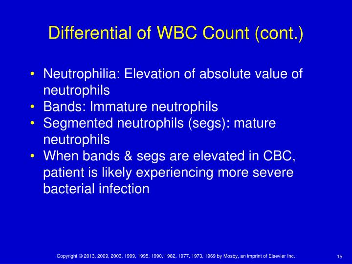Differential of WBC Count (cont.)