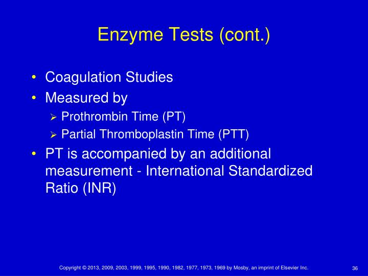 Enzyme Tests (cont.)